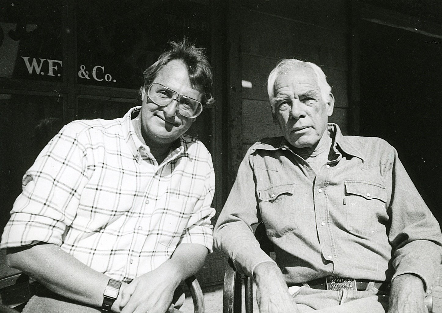 jk with the late, great lee marvin